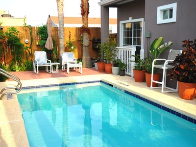 "Photo for Perfect getaway for two couples! BBQ Pit at Pool! 1/4 Block to the Beach! Corral ""C"""