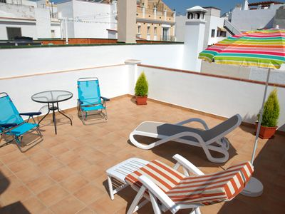 Photo for Fantastic private terraces with barbecue just 200mt from Balcon de Europa