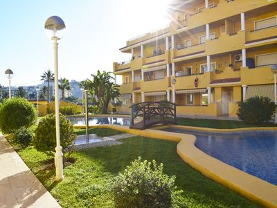 Photo for Classic and comfortable apartment  with communal pool in Denia, on the Costa Blanca, Spain for 6 persons