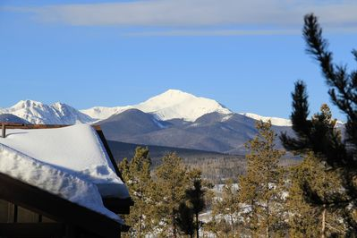 Actual view of Byers Peak from the deck!