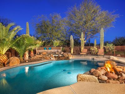 Photo for NEW LISTING * 6 KING BEDS or 16 TOTAL BEDS -  SPA & POOL (heat optional) -  Custom Home  2+ ACRES - TRUE INDOOR OUTDOOR LIVING