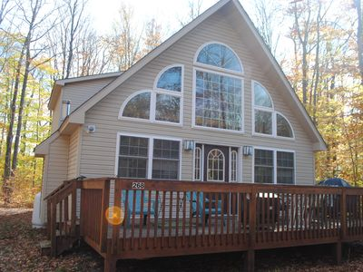 Photo for Chalet Includes Outdoor Hot Tub w/ Covered Porch