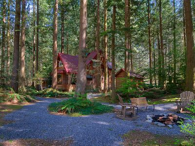 Photo for NEW! 3 Enchanting Riverfront Cabins with Hot Tub!