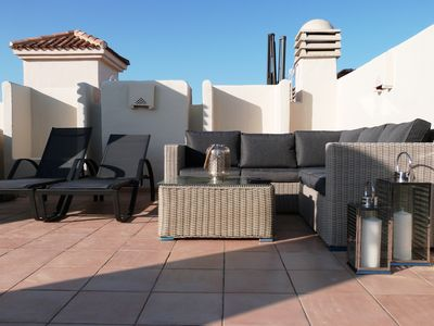 Photo for Los Alcazares , Roda Golf,  2 Bed Penthouse-  Free Wifi- luxury roof terrace