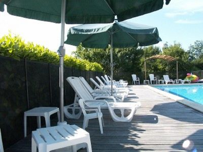 Plenty of room for all in our enclosed heated pool.