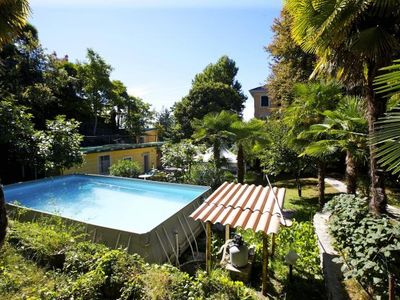 Photo for Spacious 1½-room apartment with balcony and pool and generous park