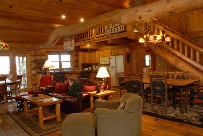 Experience the beauty and feel of a real log lodge.
