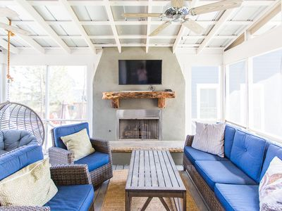 Photo for Carlton Landing! Beautiful home with screened porch and outdoor fireplace!