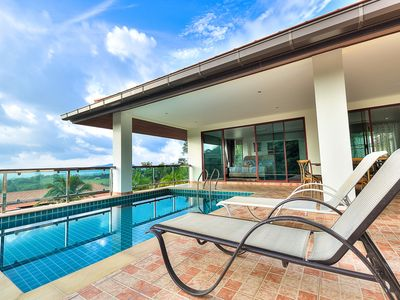Photo for 5 BDR Seaview Treasure Park Pool Villa 5 @ Chalong