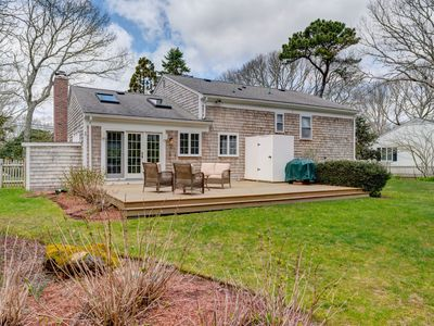 Photo for Open home w/ deck, park-like yard - walk 1/4 mile to the beach!