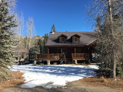 Photo for 4 Bed, 2.5 bath riverfront home at Vallecito Lake