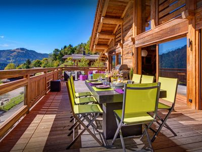Photo for 5 star luxury chalet with jacuzzi, exclusive location - SnowLodge