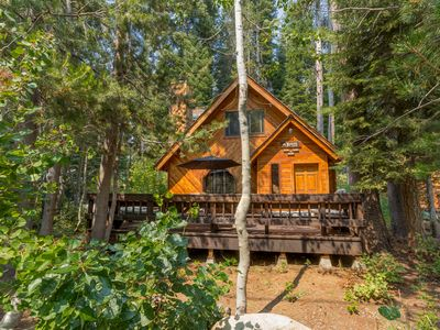 Photo for A Cute Cabin One Block from Beach Donner Lake