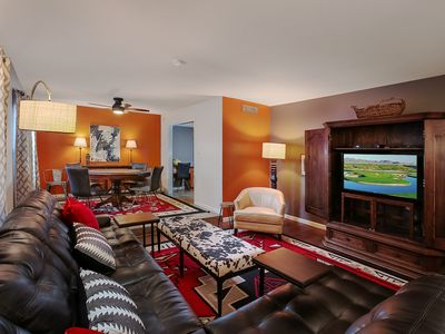 Photo for NEW LISTING! Beautiful home w/pool, patio, Ping-Pong, & more - dogs are welcome