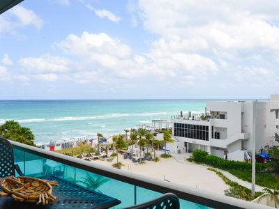 Photo for Ocean front, ocean view  large 2 bedroom,  2 bath remodeled  condo