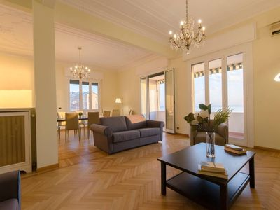 Photo for Spacious Casa del Mar Casaregis apartment in Genoa with WiFi, air conditioning & lift.