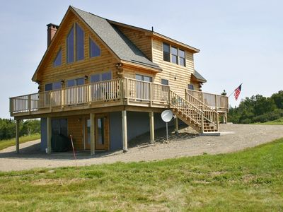 Photo for Elegant log home with unobstructed ocean views