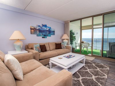 Photo for Direct Oceanfront Condo w/ Indoor Pool - Gorgeous Views & Sunrises!