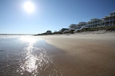 View of your home from the beach.... gorgeous white sand beaches and gentle surf