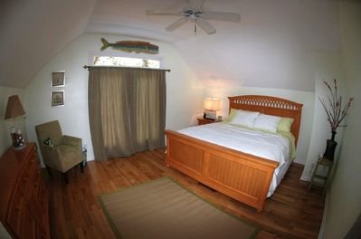 The master bedroom of the Captains Cottage.