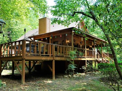 Photo for The Hootin Place Nice 2 bedroom cabin on the Nottley River in Blairsville