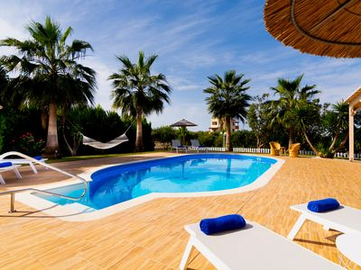 Photo for A beautiful sea view villa with 2 bedrooms, private pool, BBQ and large garden