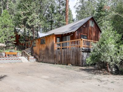 Photo for Large, cabin-style home - one mile from lake, walk to town - dogs are welcome