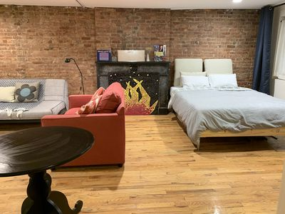Photo for 2 bedrooms created w/ heavy curtains by BAM, a cultural district w/private yard