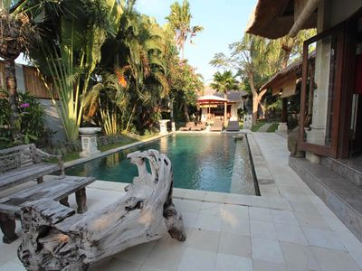 Photo for Madu Tropical 3 Bedroom Villa, large pool, ctr Seminyak