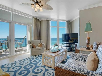 Photo for Updated in Beautiful Blues, Gulf View, Free Beach Chair Service