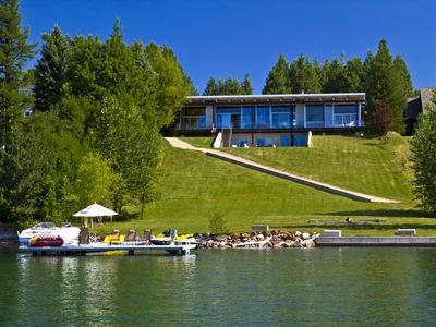 Photo for Casa Lago | Contemporary, Waterfront, Dock + Boat Lift