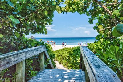 Naples beach just under 5 minutes from condo;