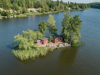 Photo for Entirely Island to rent with Sauna + Boat + Canadian Canoe