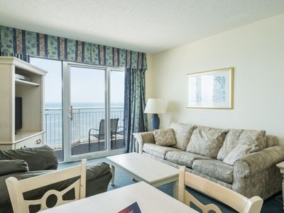 Photo for Budget friendly 2 bedroom unit overlooking the ocean! | Baywatch Resort - 1632