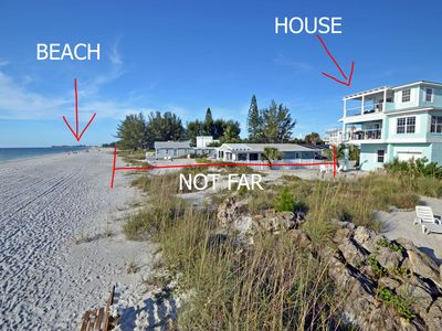 Photo for BEACHFRONT HOUSE DIRECTLY ON SOFT SUGAR WHITE SANDS