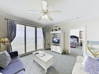 Photo for All-Suite Gulf-front Condo w/ Pools, Hot Tub & Gym at Emerald Island Resort
