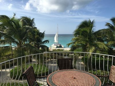 Grace Bay Beach from the deck of unit 208