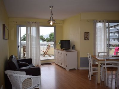 Photo for Renovated apartment located beach of Trestraou in PERROS-GUIREC