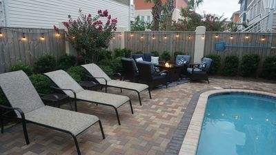 Private pool, lounge area and fire pit!!
