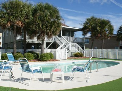 Photo for 2nd Row -  Private Pool - Putting green ,Direct beach access in front of home !