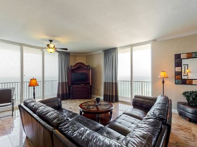 Photo for Beautiful gulf-front corner condo near Pier Park w/ pools, hot tubs & arcade!