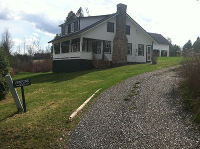 Wider angle from bottom of driveway