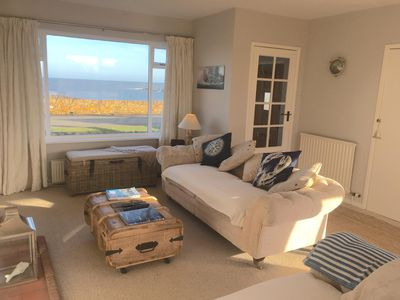 Photo for The Lookout, Full sea views, dogs welcome, enclosed south facing garden.