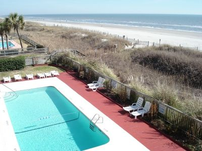 Photo for Charming Oceanfront Condo w/Pool!  Sunshine, Sand & a Drink in your Hand!