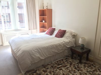 Extremely comfortable double bed in large bedroom