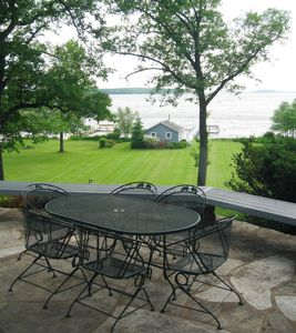 Enjoy the patio. Comfortable furniture, great views!