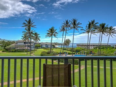 Photo for Poipu Sands 124 Luxurious Direct Ocean View Condo