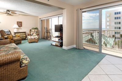 All the comforts of home in IBR 406 - Double balcony entrances make for plenty of space for the Gulf views to surround you