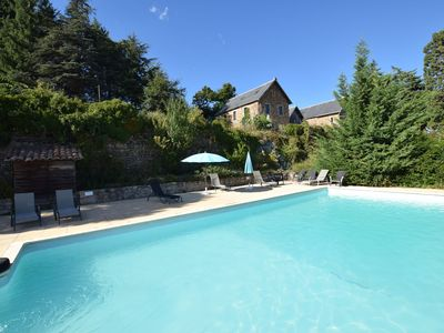 Photo for Former coach house in castle with park, large swimming pool in North Ardèche