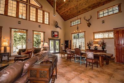 Great Room and Dinning Room Table